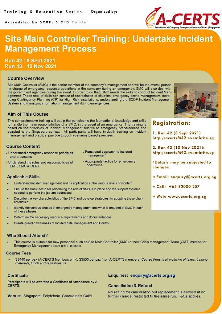 SMC Training: Undertake Incident Management Process (1 Day) Run 42 image