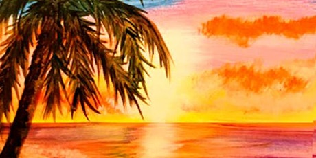 "Hunters Palm Springs paint & sip event ""Blissful Sunset"" tickets"