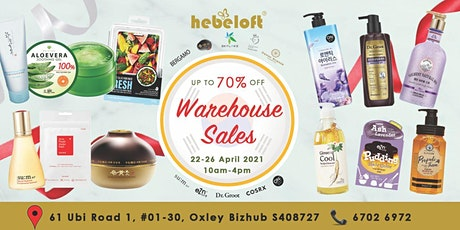 Hebeloft April Warehouse Clearance Sales tickets