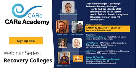Webinar: Recovery Colleges tickets