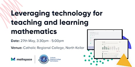 Leveraging technology for teaching and learning mathematics @ CRC N. Keilor tickets
