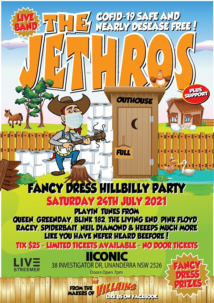 THE JETHROS - Fancy Dress Hillbilly Party image