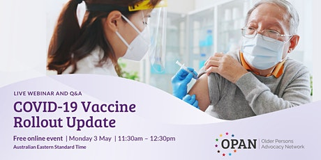 COVID-19 Vaccine Rollout Update tickets