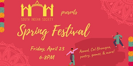 UC Berkeley's South Indian Society 2021 Spring Festival tickets