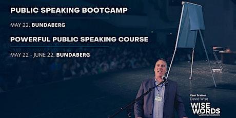 Bundaberg Public Speaking Bootcamp & Pt.1 Powerful Public Speaking Course tickets