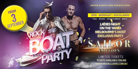 Rock The Boat with MenXclusive Spring Party 3 Sept tickets