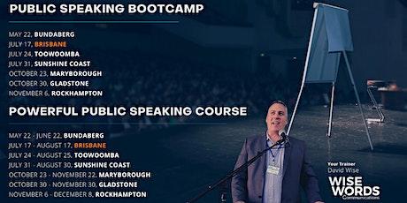 Brisbane Public Speaking Bootcamp & Pt.1 Powerful Public Speaking Course tickets