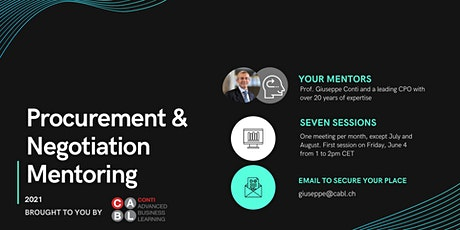 Procurement & Negotiation Mentoring tickets