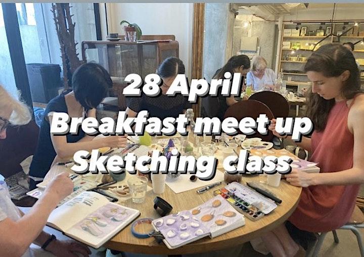 Breakfast Meet up Sketching class image