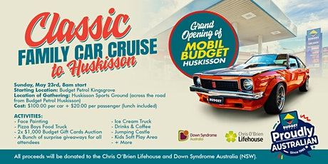 Classic Family Car Cruise To  Mobil Budget Huskisson. tickets
