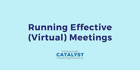 Running Effective (Virtual) Meetings training workshop tickets