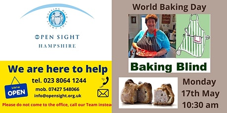 Exclusive Baking Session with Penny for  visually impaired & blind people tickets
