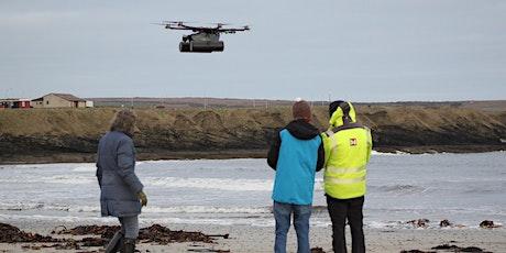 Remote sensing of marine plastic litter tickets