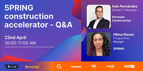 5G Construction Accelerator Programme - Q&A tickets