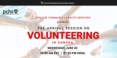 PCHS Pre-Arrival Session on Volunteering in Canada