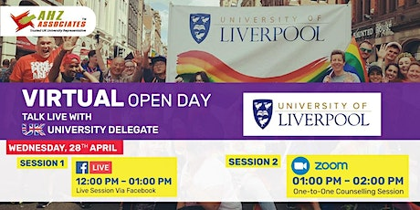 Virtual Open Day of University of Liverpool tickets
