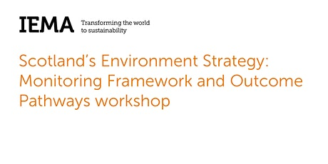 P250521 Scotland's Environment Strategy Workshop tickets