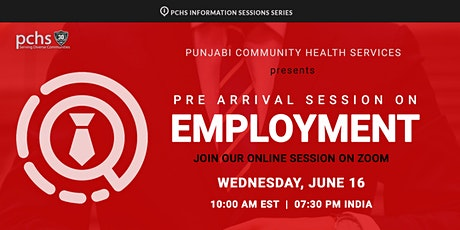 PCHS Information Session on Employment tickets