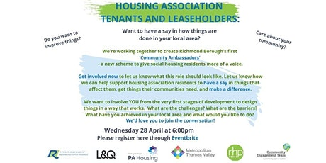 Community Conversation - Housing Tenants and Leaseholders tickets