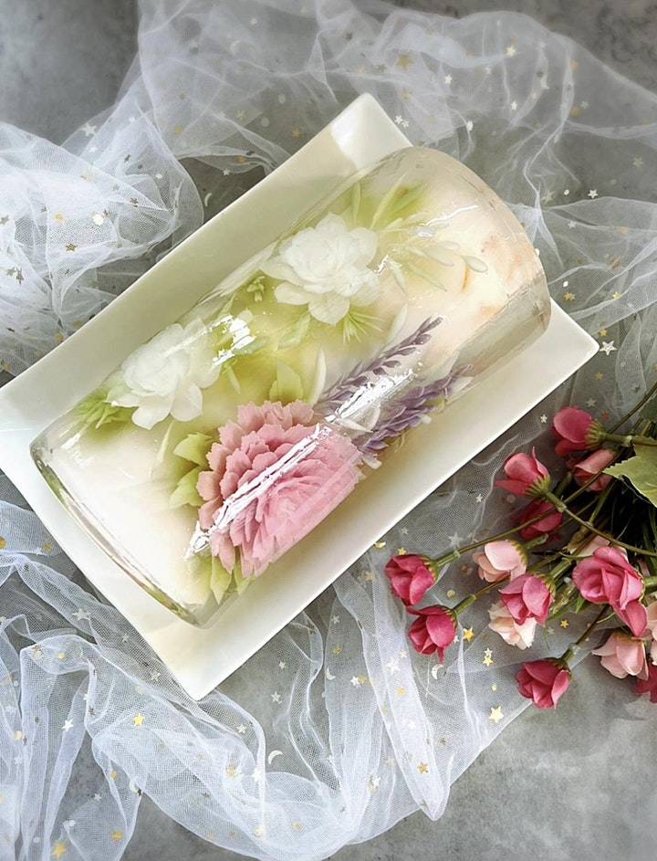 Special Edition: 3D Jelly Art Floral - Roll & Champagne Glass image