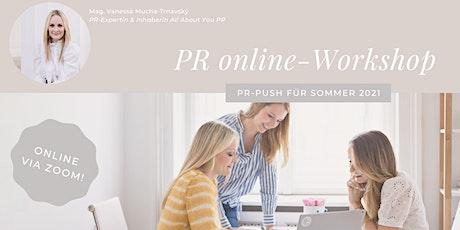 """PR-Workshop (online) """"So kommst du mit deinem Unternehmen in die Medien"""" Tickets"""