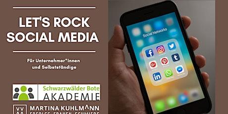 Let´s Rock Social Media! Für Unternehmer*innen und Selbstständige Tickets