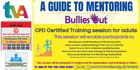 CPD Certified Training session for adults - A Guide to Mentoring tickets