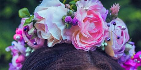 Fresh flower crown making workshop tickets