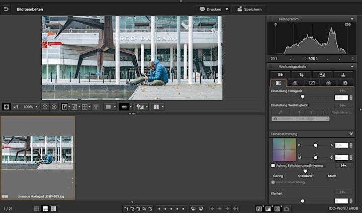 Die Canon Software optimal einsetzen - DPP - EOS Utility - Camera Connect: Bild