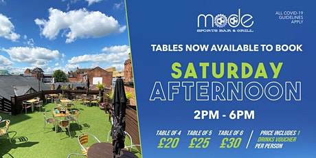 Mode Outdoor Booking Sat 24th April Afternoon Session tickets