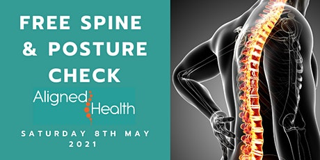 Posture & Spine Check Saturday 8th May 2021 tickets