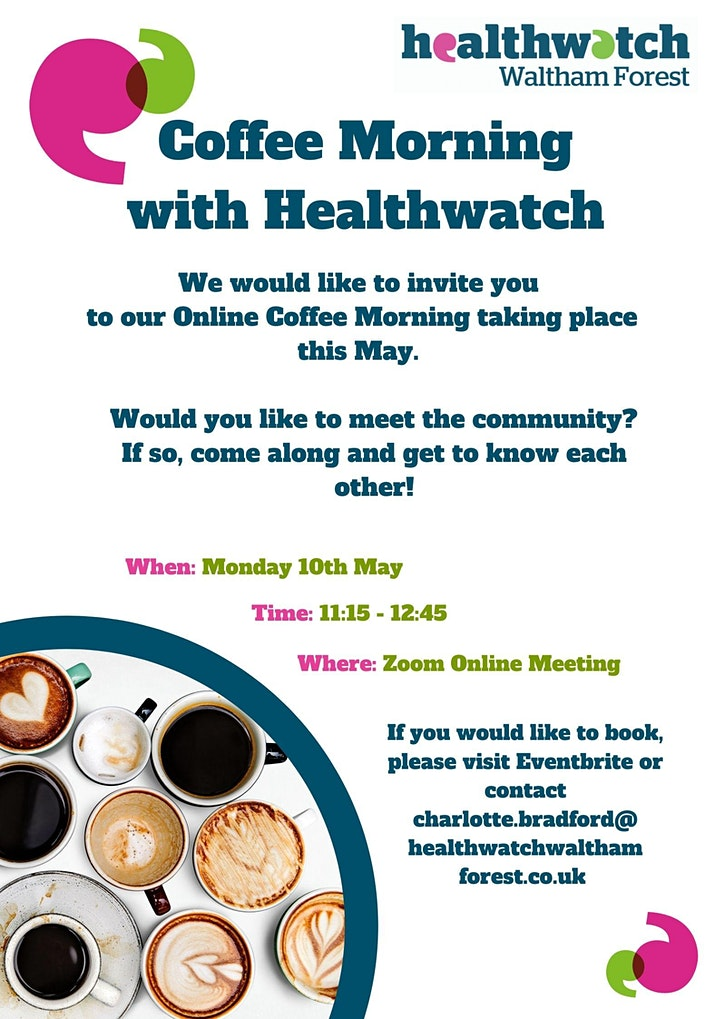 Healthwatch Waltham Forest Online Coffee Morning image