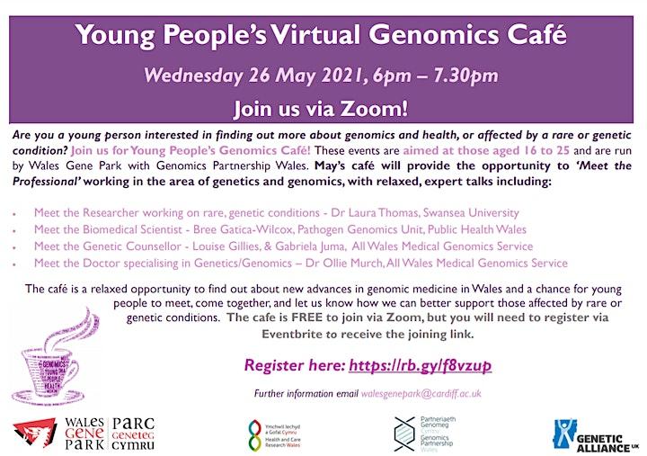 Young People's Virtual Genomics Café image