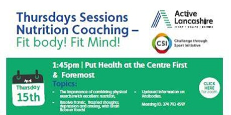 Nutrition Coaching - Fit Body Fit Mind tickets