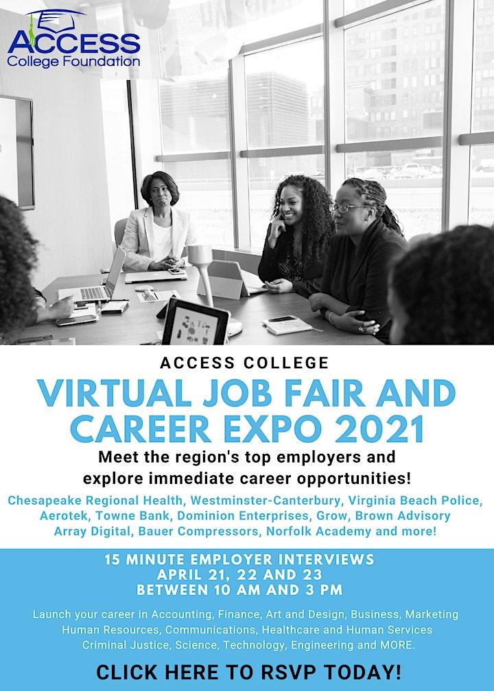 ACCESS College Virtual Job Fair image