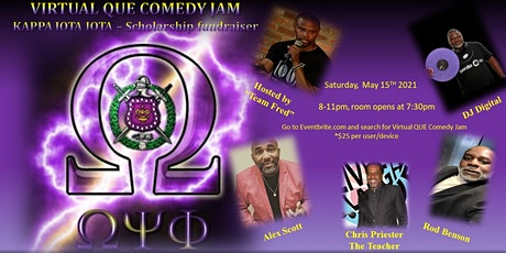 Virtual QUE Comedy JAM tickets