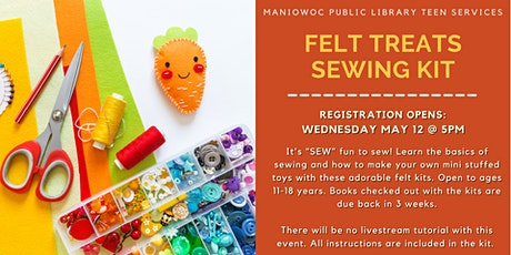 TAB: Felt Treats Sewing Kit (for Teens) tickets