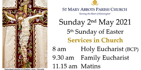 Sunday Services at St Mary Abbots, 2nd May 2021 tickets