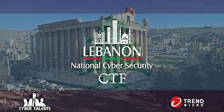 Lebanon National Cybersecurity CTF 2021 tickets