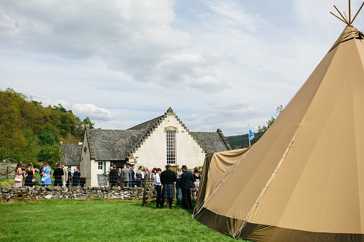 Wedding Tipi Open Day - Below Canvas image
