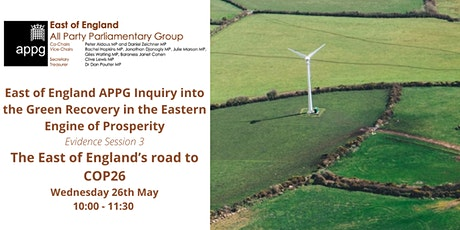 East of England APPG Inquiry Session 3:  East of England's road to COP26 tickets