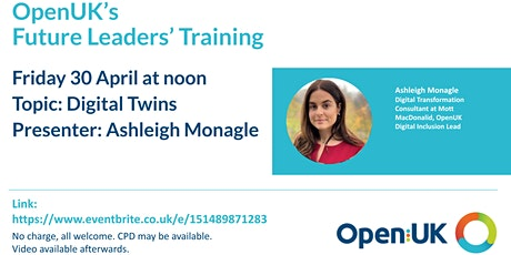 Digital Twins - Future Leaders Training tickets