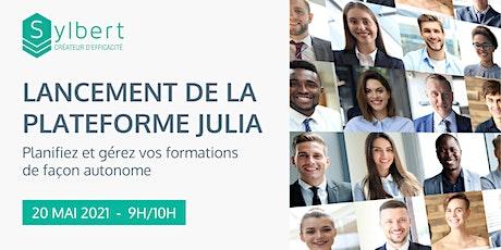 Lancement - Plateforme Julia (Planification et gestion de vos formations) tickets