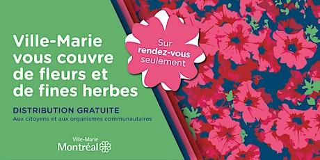 Distribution de fleurs 2021 de l'éco-quartier de Peter-McGill billets