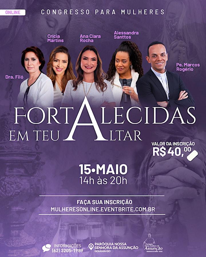 Imagem do evento Online - Congresso para Mulheres - Fortalecidas em Teu Altar