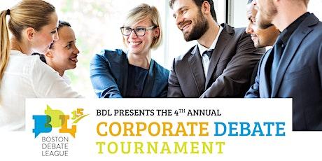 Boston Debate League 4th Annual Corporate Debate Tournament tickets
