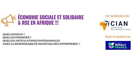 Economie Sociale et Solidaire & RSE en Afrique !!! billets