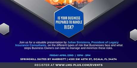 Is Your Business Prepared to Handle RISK? tickets