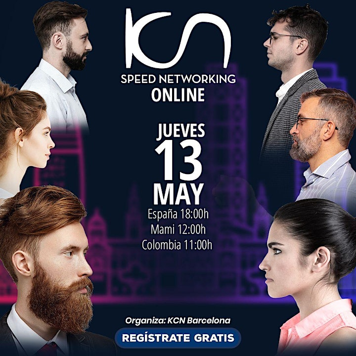 Imagen de KCN Barcelona Speed Networking Online 13May