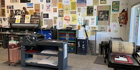 Letterpress Workshop  May 29! tickets